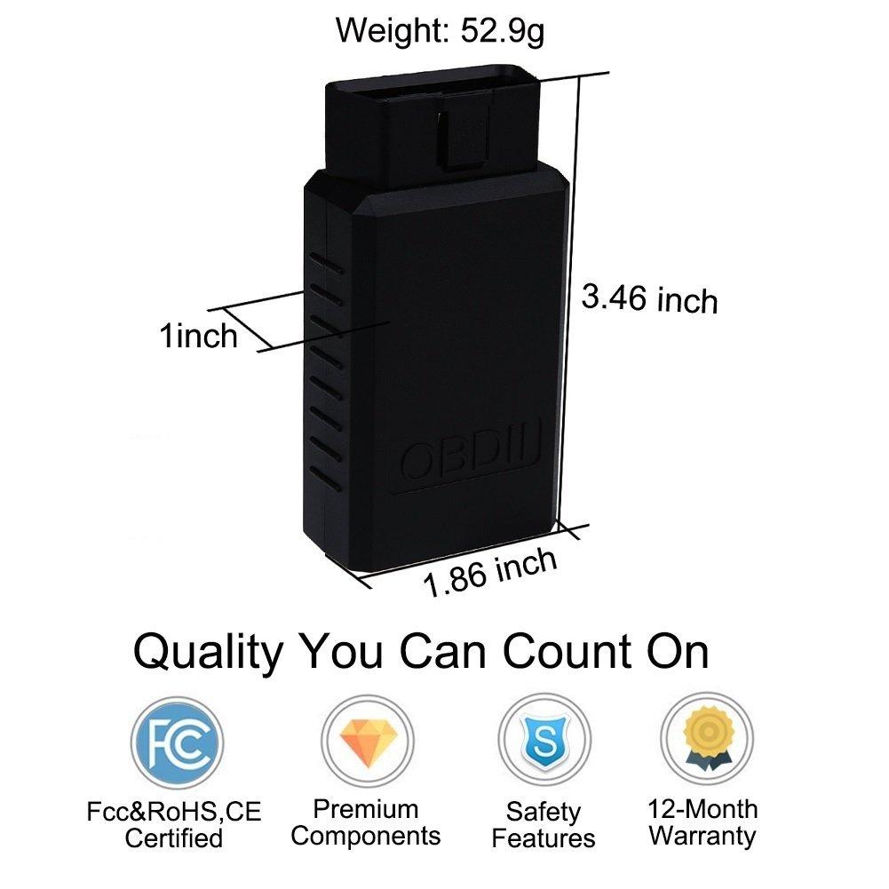 Golvery Car Bluetooth Obd Obd2 Obdii Diagnostic Scan Tool Mini Wiring Diagram