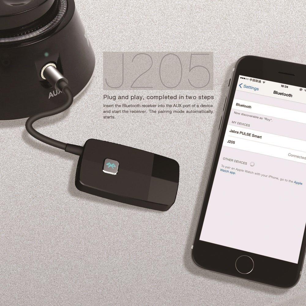 Portable Wireless Audio Adapte Advanced 4.2, A2DP Golvery Bluetooth Receiver